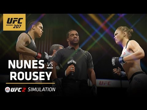 UFC 207: Flying Armbar – EA Sports UFC 2 Simulation – Amanda Nunes vs. Ronda Rousey