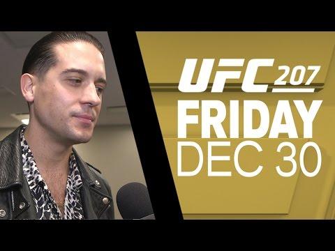 UFC 207: G-Eazy Interview with Megan Olivi – Vengeance On My Mind