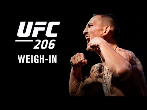 Watch LIVE Fri. at 4:00 p.m. ET – UFC 206: Official Weigh-in