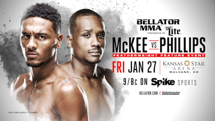 A.J. McKee vs. Brandon Phillips Added to Bellator 171 Main Card on Jan. 27