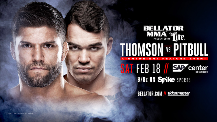 Josh Thomson vs. Patricky Pitbull Added to Bellator 172 on Feb 18 in San Jose