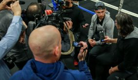 "Carl Frampton Media Workout Quotes & Photos – ""Leo's Going to Be In For a Tough Night Here"""