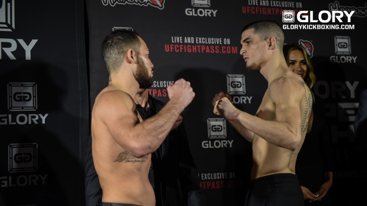 GLORY 37 Los Angeles Weigh-in Results, Video Replay & Photos – Van Roosmalen Misses Weight For FW Title Bout