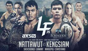 Jo Nattawut vs. Kengsiam Nor Sripueng Headlines Lion Fight 35 on March 3 LIVE on FN Canada & International