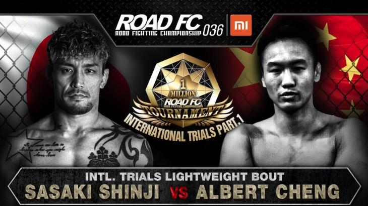 Shinji Sasaki vs. Albert Cheng Added to $1 Million Lightweight Tournament at ROAD FC 036