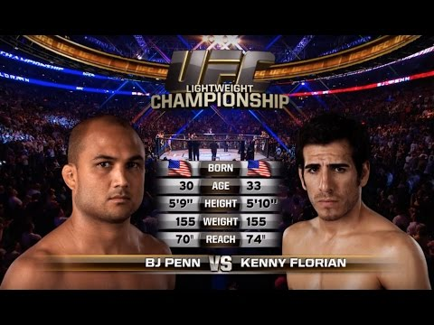 B.J. Penn vs. Kenny Florian from UFC 101 on August 8, 2009