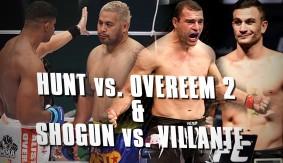 Mark Hunt Takes Rematch vs. Alistair Overeem, Shogun Rua vs. Gian Villante Announced