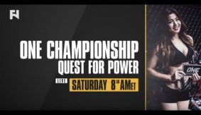 ONE: Quest For Power – Watch LIVE Sat. Jan. 14, 2017 at 8:30 a.m. ET in Canada on Fight Network