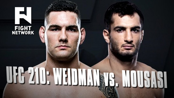 UFC 210: Chris Weidman vs. Gegard Mousasi in Buffalo, New York