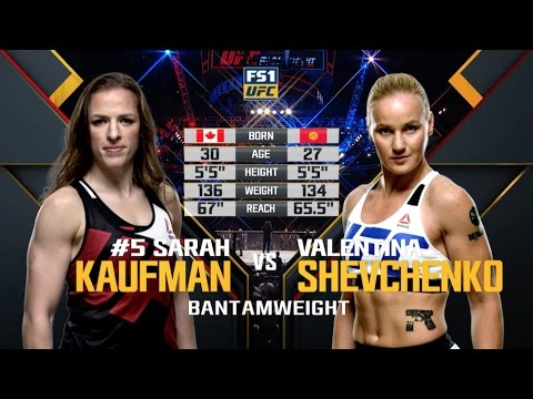 Valentina Shevchenko vs. Sarah Kaufman from UFC Fight Night Orlando on Dec. 19, 2015
