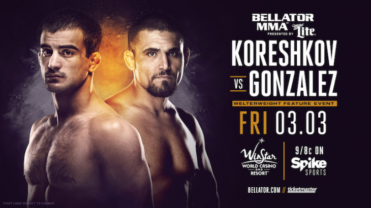 Bellator 174 Adds Koreshkov-Gonzalez, Honeycutt-Grove & Cody Pfister