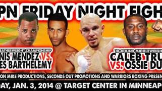 Duran-Truax Set for Jan. 3 ESPN Friday Night Fights Co-Main