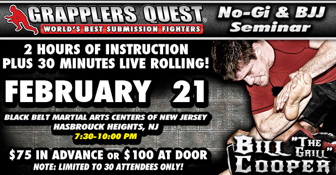 Bill Cooper Seminar, Grapplers Quest Pro Open Feb. 21-22