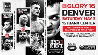 Pat Barry's Debut Set for GLORY 16 Denver on May 3