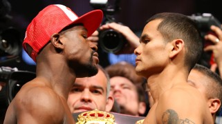 Mayweather vs. Maidana Weigh-in Results, Photos & Video