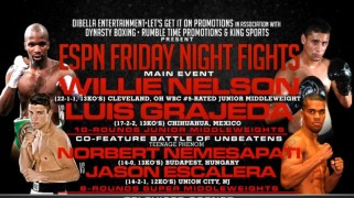 Full Card Set for this Week's ESPN Friday Night Fights