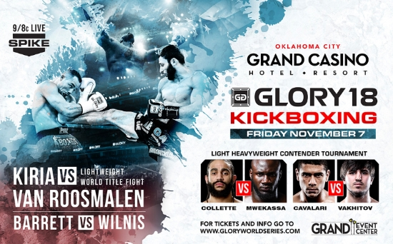 GLORY 18 Oklahoma Set for Nov. 7 LIVE on Fight Network