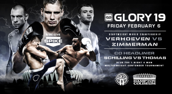GLORY 19 Gets Co-Main Event, One-Night Tourney Bouts