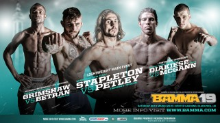 Main Card Fights Set for BAMMA 19 on March 28 in Blackpool