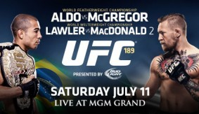 Quick Shots & Video Scrums – UFC 189: McGregor, Lawler Win