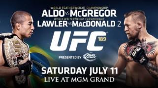 Quick Shots & Video Scrums – UFC 189: McGregor, Lawler Win