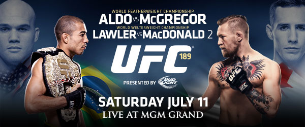UFC 189: Mendes vs. McGregor Weigh-in Results