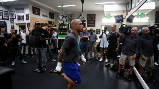 Miguel Cotto Los Angeles Media Workout Quotes & Photos