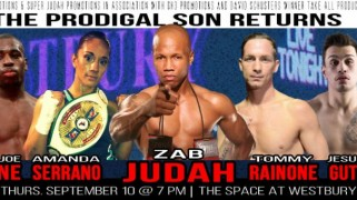 Zab Judah Headlines Sept. 10 Card in Westbury, New York