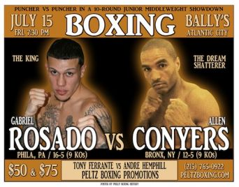 Rosado Battles Conyers this Friday in Atlantic City