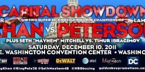 Full Card Set for Capital Showdown: Khan vs. Peterson