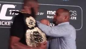 Video - UFC 178: Jon Jones vs. Daniel Cormier Presser Brawl