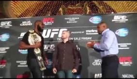 Video - UFC 178 Media Day: Jon Jones-Daniel Cormier Brawl