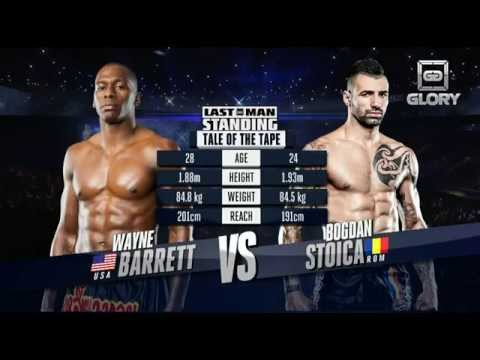 Video – GLORY Free Fight: Wayne Barrett vs. Bogdan Stoica