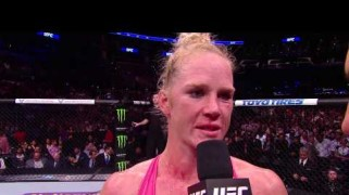 Video – UFC 184: Holly Holm Octagon Interview