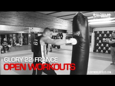Video – GLORY 22: Open Workout Highlights