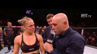 Video – UFC 190: Ronda Rousey Octagon Interview