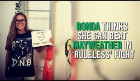 Video – Ronda Says She Can Beat Floyd in No-Rules Fight