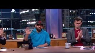 Video – FOX Sports: Johny Hendricks Drops By Crowd Goes Wild