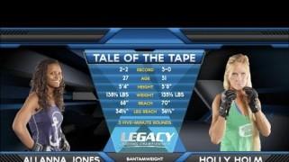 Video – Legacy FC 21: Holly Holm-Allanna Jones Full Fight